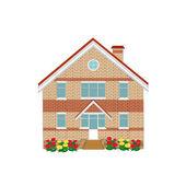 Brick house, illustration — Stock Vector