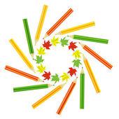 彩色的铅笔 — 图库矢量图片