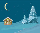 Christmas landscape illustrations — 图库矢量图片