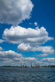 Docks on the Dnieper — Stock Photo