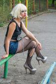 Blatant girl — Stock Photo