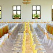 Table set for wedding dinner   — Stock Photo