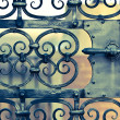 Old iron gate — Stock Photo