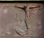 Gesù sulla croce — Foto Stock