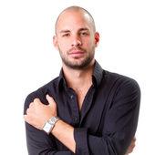 Man in a black shirt — Stock Photo