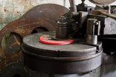 Lathe on Iron Manufacturing — Stok fotoğraf
