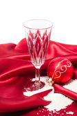 Christmas products decoration with sugar as snow — Stok fotoğraf