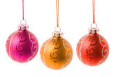Colorful christmas balls - isolated — Stock Photo