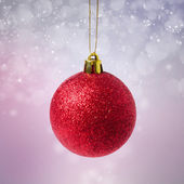Red christmas ball - isolated — Foto de Stock