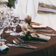 Table set for a wedding dinner — Stock Photo #36340013