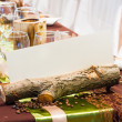 Table set for a wedding dinner — Stock Photo #36340039