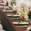Table set for a wedding dinner — Stock Photo #36340077