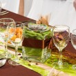 Table set for a wedding dinner — Stock Photo #36340081