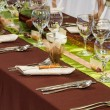 Table set for a wedding dinner — Stock Photo #36340091