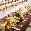 Table set for a wedding dinner — Stock Photo #36340133