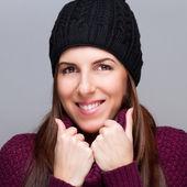 Hermosa chica del sombrero — Foto de Stock