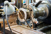 Lathe machine in a workshop — Stock Photo