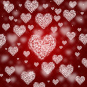 Valentine background with hearts — Stock Photo