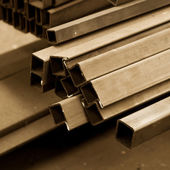 Bars made of carbon steel — Stock Photo