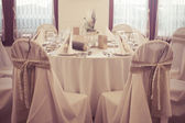 Wedding place with decorations — Stock Photo
