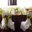 Table set for wedding or another catered event dinner — Stock Photo #45973077