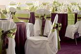 Tabell uppsättning för bröllop eller annan tillgodoses event middag — Stockfoto