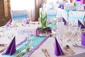 Sillas de boda con la decoración — Foto de Stock