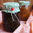 Jars with jam. — Stock Photo