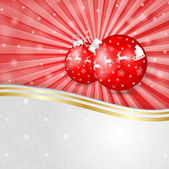 Red globe over Christmas background — Stock Vector