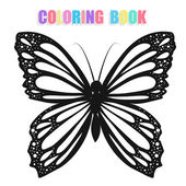Coloring book with butterflies — Stock vektor