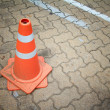 Foto Stock: Traffic cone sign