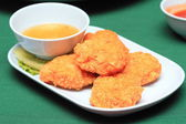 Tod man goong, Thai style appetizers — Stock Photo
