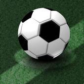Ballon de foot (avec chemins de détourage) — Photo