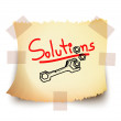 Solutions, Vector — Stock Vector