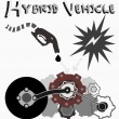 Постер, плакат: Hybrid Vehicle Vector