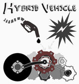 Hybrid Vehicle, Vector  — Stock Vector