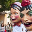 Giants and big heads at  Zaragoza — Stock Photo