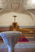 Inside the chapel of a sanctuary — Stock Photo
