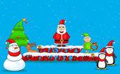 Santa Claus wishing Merry Christmas — Stock Vector