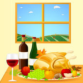 Thanksgiving Dinner — Stockvector