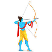 Lord Rama with Bow and Arrow — Stock Vector