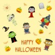 Halloween Patterned Background — Imagen vectorial