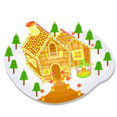 Gingerbread House — Stock Vector