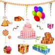 Birthday Object — Stock Vector