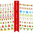 Christmas Bunting — Stock Vector