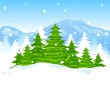 Christmas Winter Landscape — Stock Vector #34613953