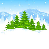 Christmas Winter Landscape — Stock Vector