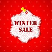 Winter Sale Snowflakes Sticker — Stock Vector