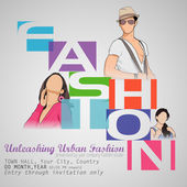 Fashion Show — Stock Vector