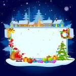 Noel Baba mutlu Noeller dileğiyle — Stok Vektör